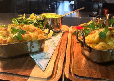 fish and shellfish pie Seafish Cafe St Aubin