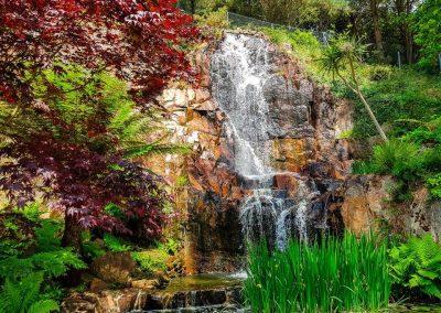 Waterfall at Winston Churchill Memorial Gardens