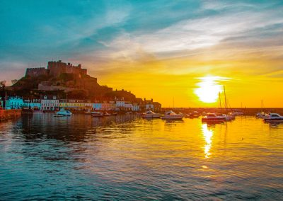 sunrise Gorey harbour