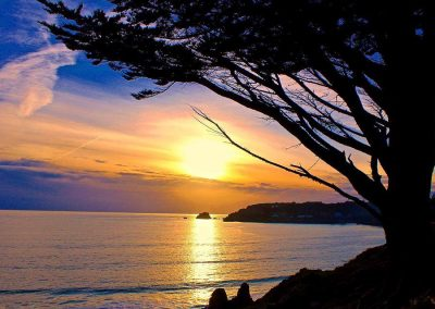 St Brelade's Bay in Jersey sunset