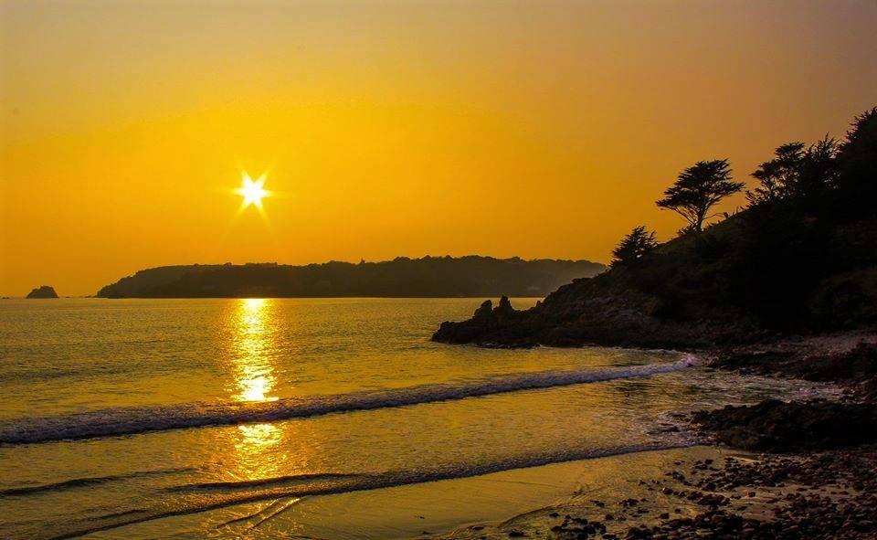 sunset St Brelade's Bay
